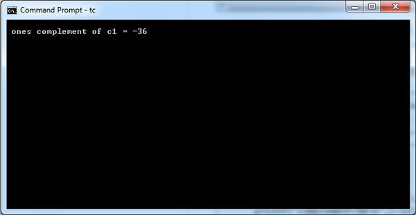 C Program Write a Program with Complement