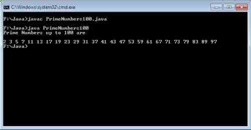 Print all the Prime Numbers up to 100