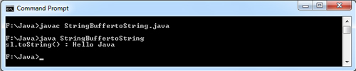 StringBuffer toString() Java Example