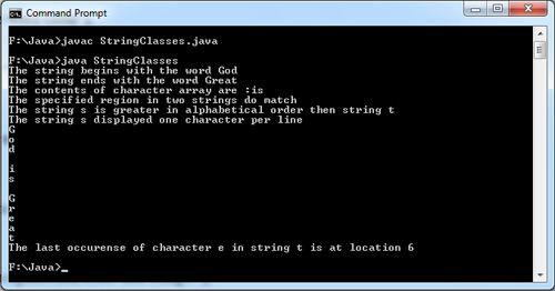 String Classes in Java Examples