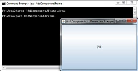 Add Components to JFrame Java Example