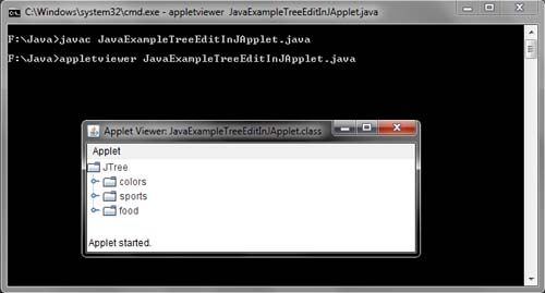 Java JTree Cell Editor Example