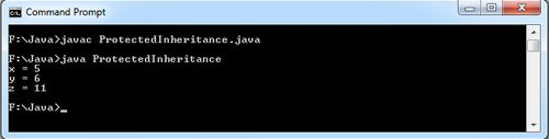 Inheritance Protected Members Java Example