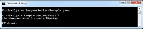 Properties in Java Example