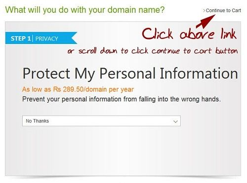 Protect my information on godaddy