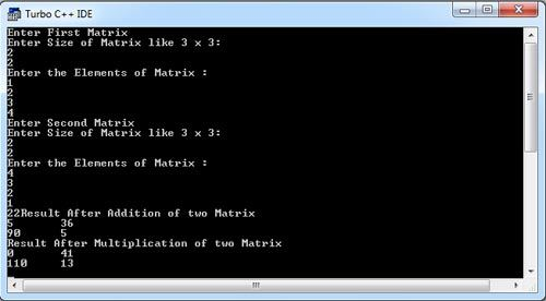 Write A C Program For Addition Amp Multiplication Of Two