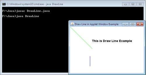 Drawing Lines Java Applet : How to draw a line in java with drawline method