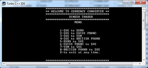 how to create a menu in c programming