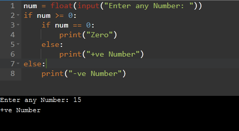 Python Nested if Example