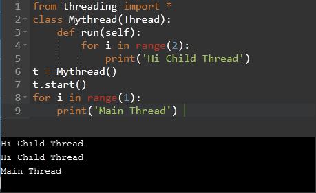 extending the Thread class to create a thread
