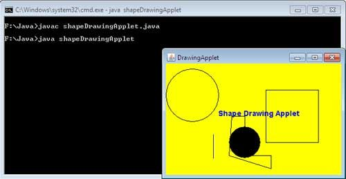 Drawing Lines In Java Applet : Java applet how to shapes drawn in