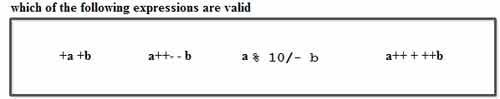 which of the following expressions are valid
